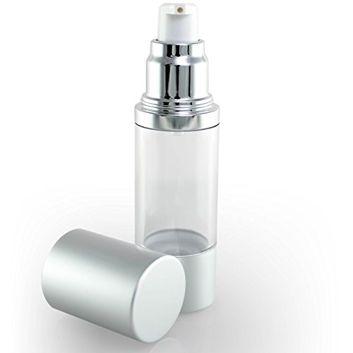 Luxe Empty Airless Pump Bottle with Lid for Homemade Beauty Products, Lotion and Serum