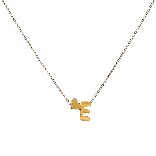 Gbell Fashion Girls Women A-Z Letters Necklaces Charms, Gold Love Heart Chain 26 English Alphabet Name Pendant Necklaces Jewelry Birthday Gifts, Ideal Party Costume,Engagement,Wedding