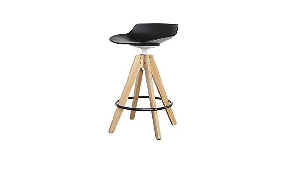 Amazon mlx sedia bar girevole in legno massello moderna