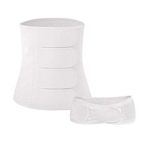 (Postpartum Support Recovery Belly Wrap Waist Pelvis Belt Postpartum Girdle Band Belt Body Shaper Postnatal Maternity Recovery Band Shapewear,White,L)
