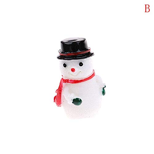 Christmas Santa Claus Snowman Miniature DIY Flat Back Resin | for Keychain Pendants Necklaces | for Earrings DIY Decoration (1Pc)