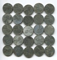 Rare WWII World War Steel Penny Old Coin Collection LotCollectible Condition - Half Coin Penny