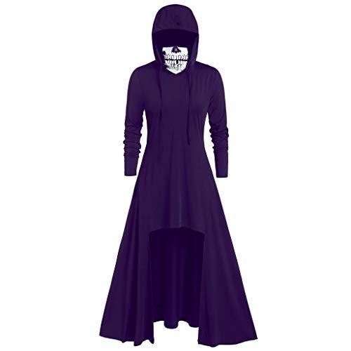 Chipotle On Halloween (iLOOSKR Fashion Women's Hooded Skirt Pullover Long Sleeve High Bandage Dress Cloak)