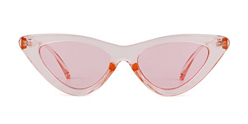 Rosa sol protección de Rosa mujeres Gafas Kurt vintage retro niñas gafas ojo Cobain ADEWU de 1 Gafas Marco sol estilo de para gato de de Transparente Lente 81SqxwaC