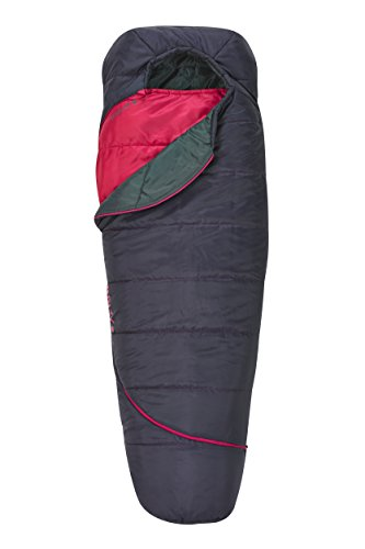 - Kelty Girls TRU Comfort 35 Degree Sleeping Bag, Black Cherry/Deep Fuschia