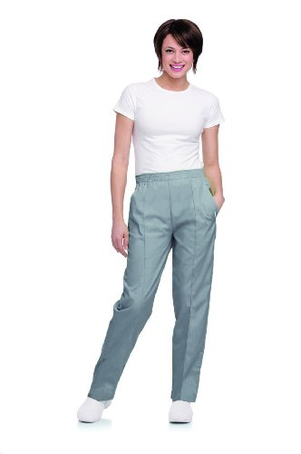 Landau Women's Classic Fit Elastic Waist Scrub Pants X-Large Steel ()