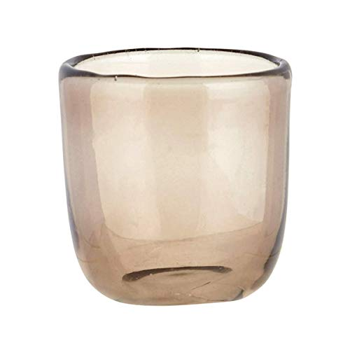 (47th & Main Tinted Glass Votive Tealight Candle Holders, 2 1/2 Inch (Smoke))