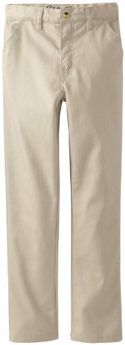 Eddie Bauer Big Boys Twill Straight Leg Pant, Khaki,8 (Boys School Uniforms Pants)