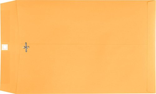 10 x 15 Clasp Envelopes - 28lb. Brown Kraft (500 Qty. ) | Ideal for School, Office and Home Use | 28lb. Text Paper | 1015C-BK-500 by Envelopes.com (Image #1)