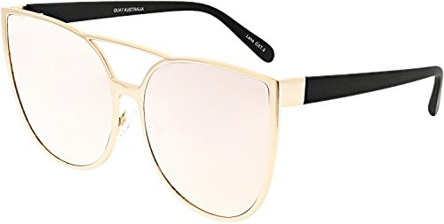 Quay Women's Sorority Princess Sunglasses, Gold/Pink, One - Sunglasses Sorority