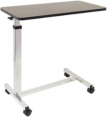 Mesa de cama con ruedas no inclinable – 15 x 30 pulgadas altura ...