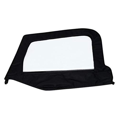 Smittybilt 79415 Soft Top Door Skin w/ Frame, LH Black Denim 97-06 TJ
