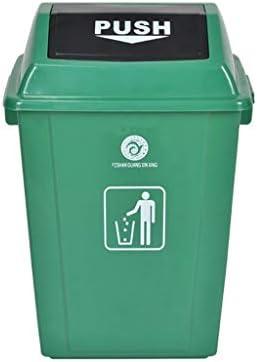 42L / 60Lプラスチックごみ箱、屋外ふた高容量のごみ箱レストラン商業のゴミ箱でできます (Color : Green, Size : 60L)