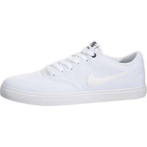Nike Mens SB Check Solar Canvas White White Black Size 8.5