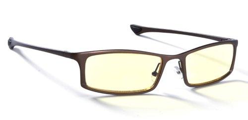 Gunnar Optiks ST002-C013 Phenom Full Rim Ergonomic Advanced Computer Glasses with Amber Lens Tint, Earth Frame Finish