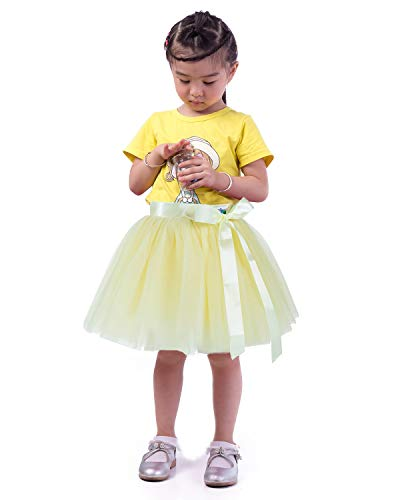 - Little Girl Tutu Skirt A Line 7 Layers Tulle Skirt Party Princess Dance Tutu Dress (3T -10T) Yellow