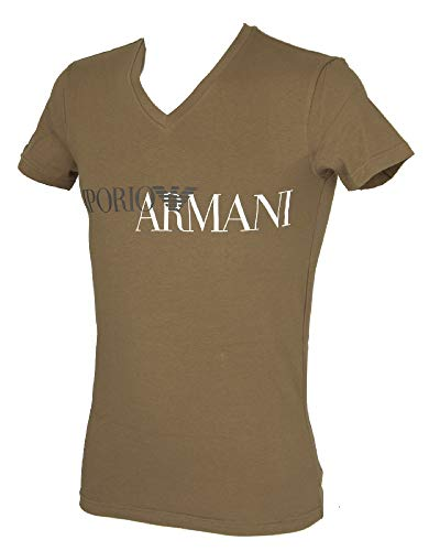 - Emporio Armani Short Sleeve t-Shirt V Neck Man Men's Item 110810 9P516