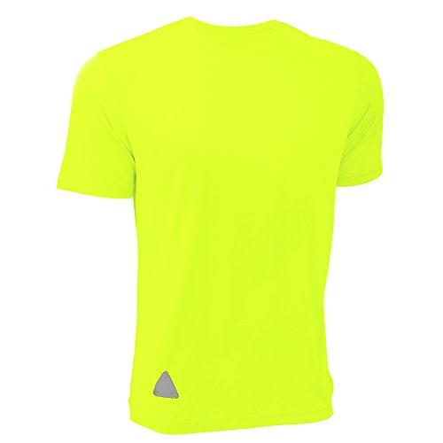 (RTY Mens High Visibility Enhanced Dynamic T-Shirt (XXL) (Bright Yellow))
