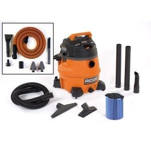 RIDGID 14-Gal. 6.0 Peak HP Wet/Dry Vac with Auto Detailing Kit (Car Picking Kit)