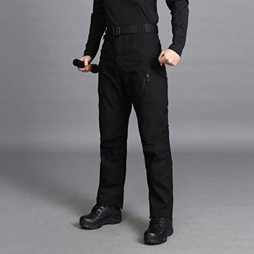 Realdo Hot!Clearance Sale Mens Daily Casual Solid Straight Outdoors Work Trousers Cargo Pants(Small,Black) by Realdo (Image #2)