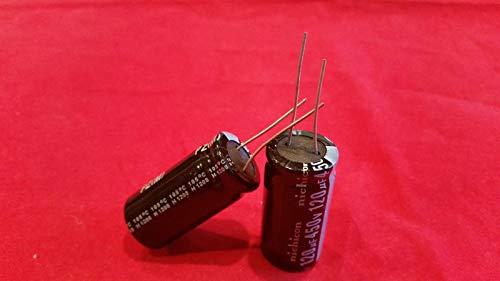 (2 PCS 120UF 120mfd 450V Electrolytic Capacitor 105 Degrees)