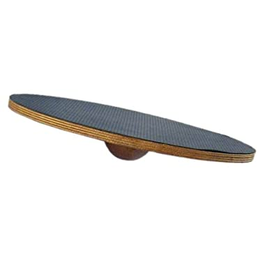 j/fit Large Round Fixed Angle Balance Board 16  | Durable Wooden Wobble Platform | Improve Agility, Coordination, Core and Muscle Strength, Proprioception, Physical Therapy, Dog Training Rocker Board