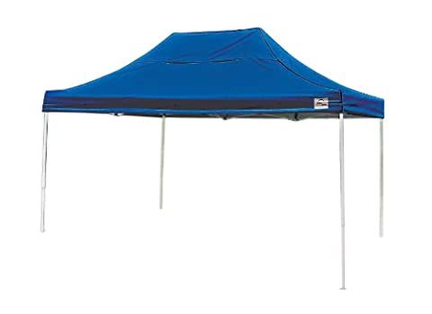 10x15 Straight Leg Pop-up Canopy, Blue Cover, Black Roller Bag - Shelterlogic Canopy