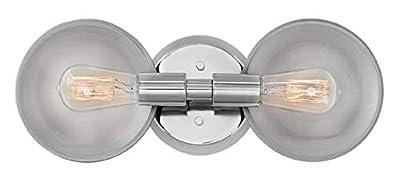 Hinkley 5262PN Boyer Vanity, 2-Light 200 Total Watts, Polished Nickel