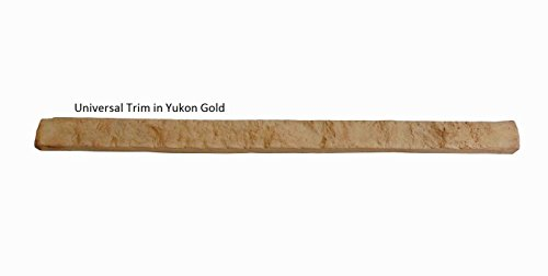 "Simulated Stone Universal Trim 4""H x 48""W x 2.75""deep in Yukon Gold - by EasyRock USA Inc. (Trim Stone Simulated)"