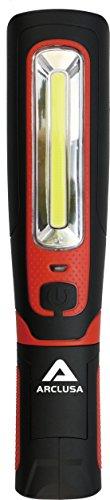 Arclusa Handheld Work Light w/ 360 Degree Beam Angle & Rechargeable LED Inspection, 300 LUMENS, Black