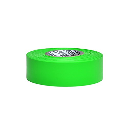 Presco PresGlo Taffeta Roll Flagging Tape: 1-3/16 in. x 50 yds. (Neon Green) ()