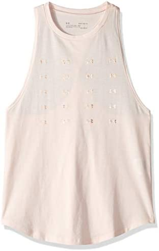 Girls' Infinity Twist Back Tank Top, Orange Dream (805)/Onyx White, Youth Medium