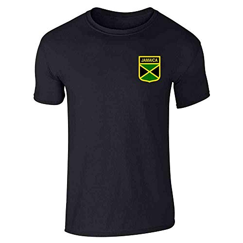 (Jamaica Soccer Retro National Team Black M Short Sleeve T-Shirt)