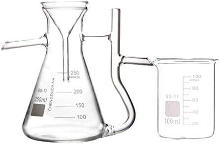 XIAOXIAO Frasco volumétrico de Vidrio de Laboratorio 250 ml ...