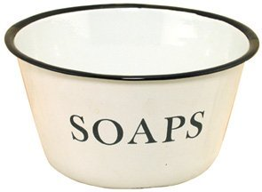 Enamelware Soaps Bowl with Black Trim ()