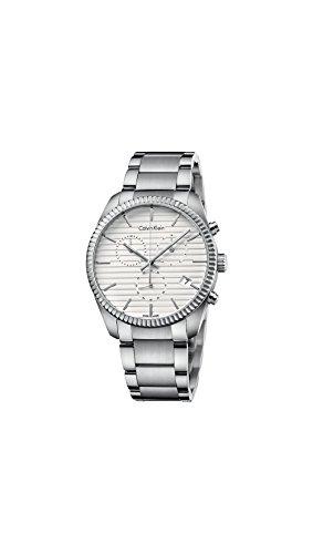 Calvin Klein K5R37146 Mens Alliance Silver Chrono Watch
