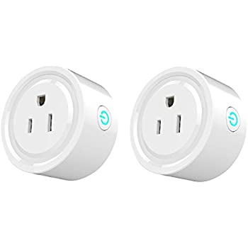 Tan Tan Smart Plug 2 Pack Wi-Fi Enabled Mini Smart Switch Works with Amazon Alexa, No Hub Required, Remote Control your Devices from Anywhere, ETL Listed with Timing Function for Smart Phone