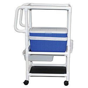 MJM International 820-PAN Hydration Cart Skirt, Royal Blue/Forest Green/Mauve