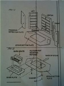 Whitfield Pellet Stove Burn Pot Conversion Kit, Adapter Plate, Upgrade