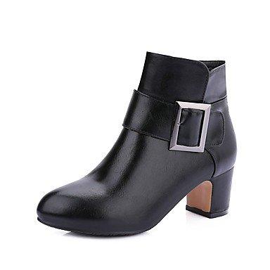 Para Casual Redonda 8 Mujer Zapatos Hebilla RTRY Bota Negro De US9 Botines Rojo 10 Gris CN42 Botines De Moda Puntera EU41 UK7 5 De Polipiel Vestimenta 5 Botas Botas Invierno Uqfaf7Z