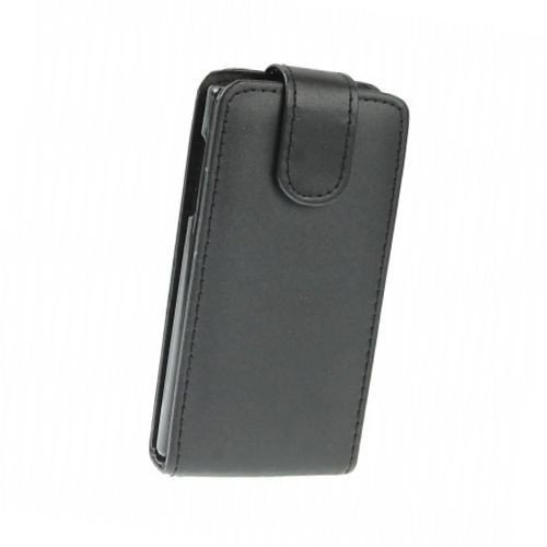 LG E610 Optimus L5 de bolso business caja del teléfono móvil del caso del tirón del caso de negocios de parachoques de la cubierta del negro