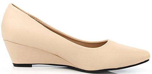 Ballerina AgeeMi con on Scarpe Albicocca Tacco Donna Zeppe Shoes Donna col Slip CTTxrt0Swq