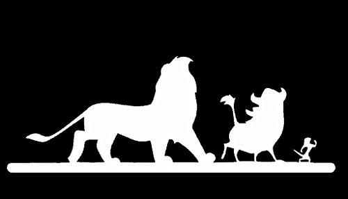 Lion King Hakuna Matata Simba Decal Vinyl Sticker Cars Trucks Vans Walls Laptop  White  6.5 x 2.5 in CCI1433