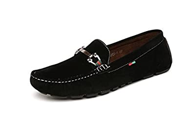 Mens Loafers Slip On Driving Shoes Black or Brown Suede Moccasins Sizes  6-12 New