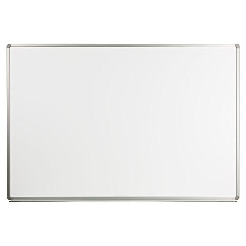 Offex OF-YU-120X180-WHITE-GG Magnetic Marker Board, Dry Erase Board, Writing Surface, For Classroom, Office, School Writing Surface Aluminum Frame, 6 x 4 Feet, Porcelain White by Offex (Image #1)