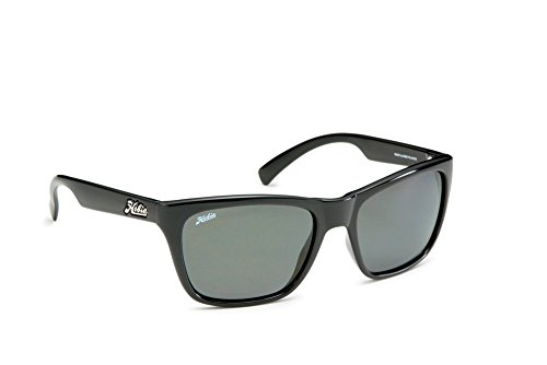 Hobie Woody-50GGY Polarized Rectangular Sunglasses,Shiny Black,58 - Sunglasses Woody Hobie