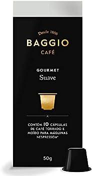 Cápsulas de Café Suave Baggio Café, Compatível com Nespresso, Contém 10 Cápsulas