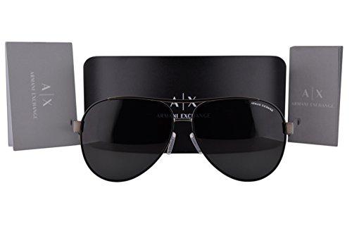 Armani Exchange AX2018S Sunglasses Matte Gunmetal Black w/Gray Lens 600687 AX 2018S by A|X Armani Exchange