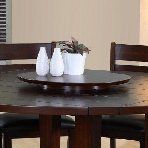 - Wood Very Dark Espresso Lazy Susan Turntable Tray 22