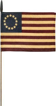 Betsy Ross Colonial American Flag Stick Pick Patriotic Display Country Primitive Décor